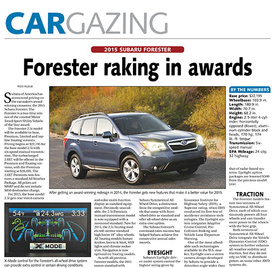 2015forester | Autos Post