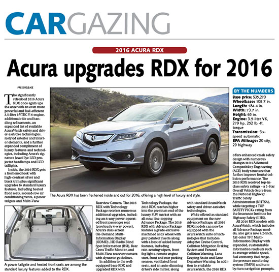 2016 Acura Rdx Overview: Green Shoot Media